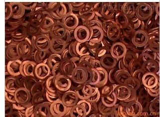 厂家批发压力表紫铜垫片、铝垫片