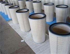 齐全风机350*900纳米纤维除尘滤筒粉尘回收滤芯