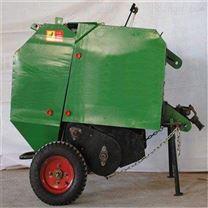 圆捆机 四轮牵引稻草秸秆打捆机