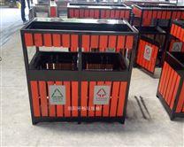 环畅木艺垃圾箱定制 公园园林木质垃圾桶