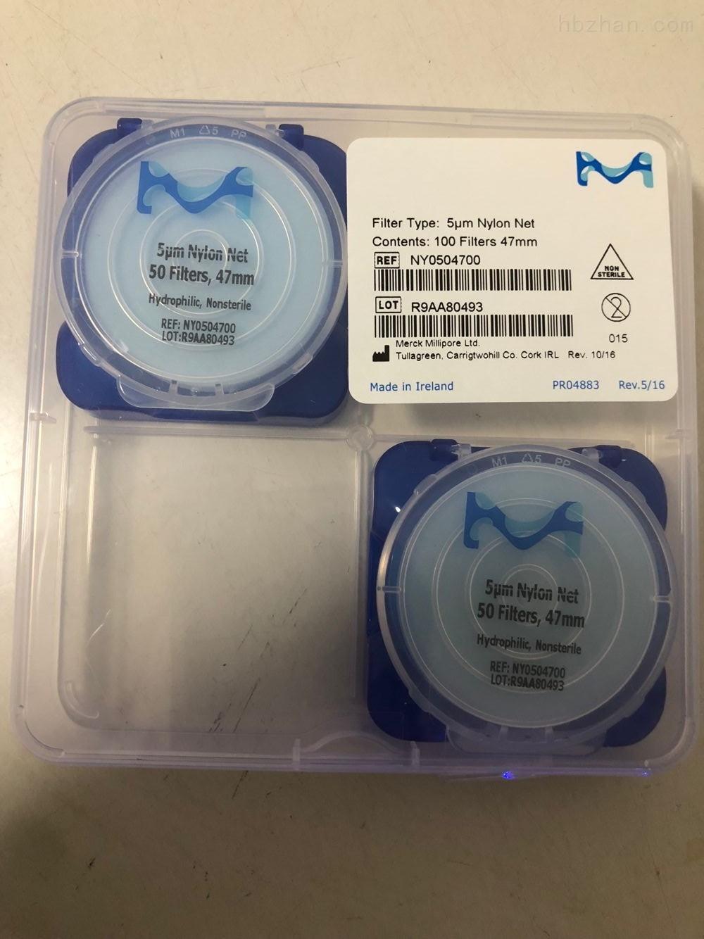 millipore清洁度检测专用尼龙网格滤膜5um