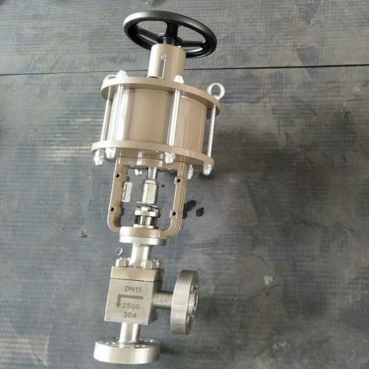 气动高压角式截止阀J644Y-2500LB