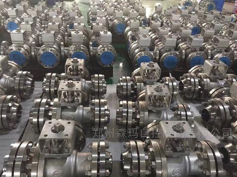 气动不锈钢高压三通换向球阀SMQ645F-64P
