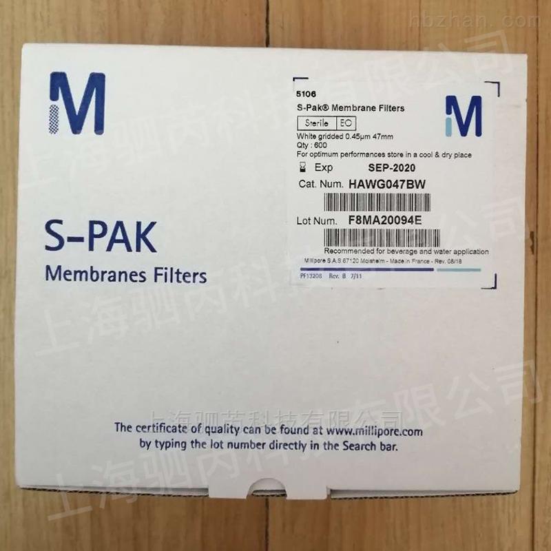 merck密理博S-PAK孔径0.45um微生物采样膜