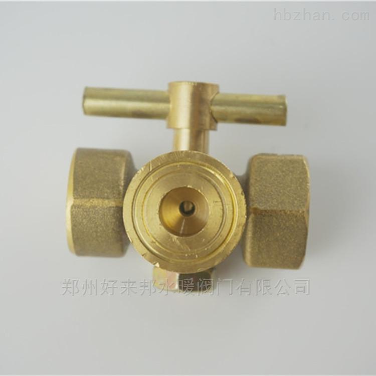 铜四氟表三通 铜三通旋塞阀 M20*1.5  大体