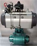 Q661Y气动高温高压锻钢硬密封焊接球阀