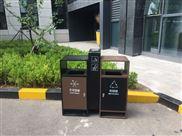 商圈户外加厚不锈钢分类垃圾桶