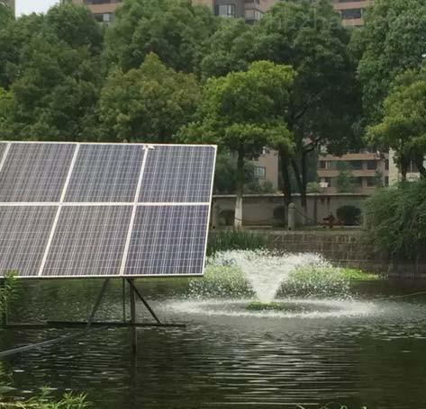 太阳能解层式曝气机安装
