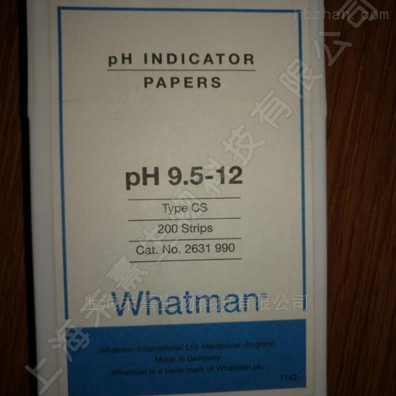 Whatman PH试纸 9.5-12.0