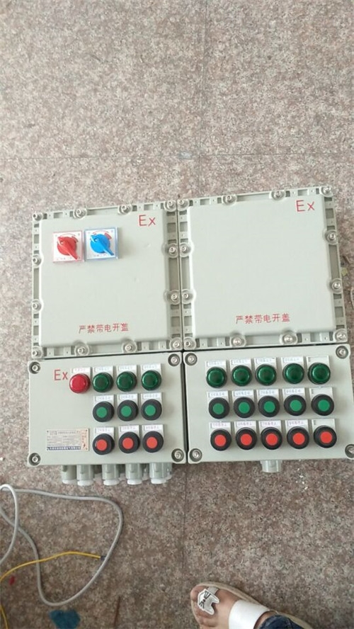 电机水泵正反转防爆磁力启动器箱控制箱