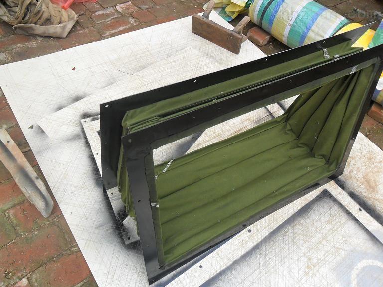 阻燃耐磨帆布伸缩式通风软连接