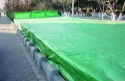绿篱越冬绿色防寒布