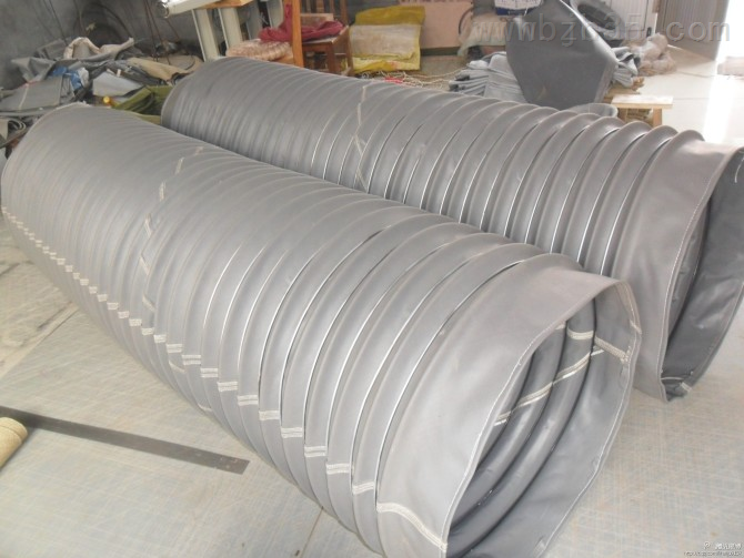 绿色螺旋三防布伸缩式通风管