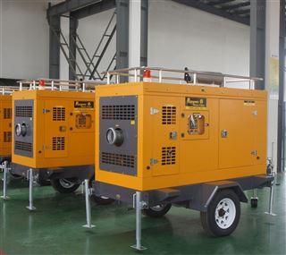 柴油发电排水一体泵车