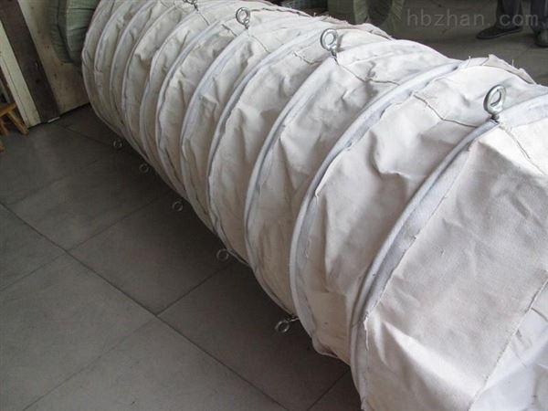 圆形法兰式帆布伸缩布袋 生产