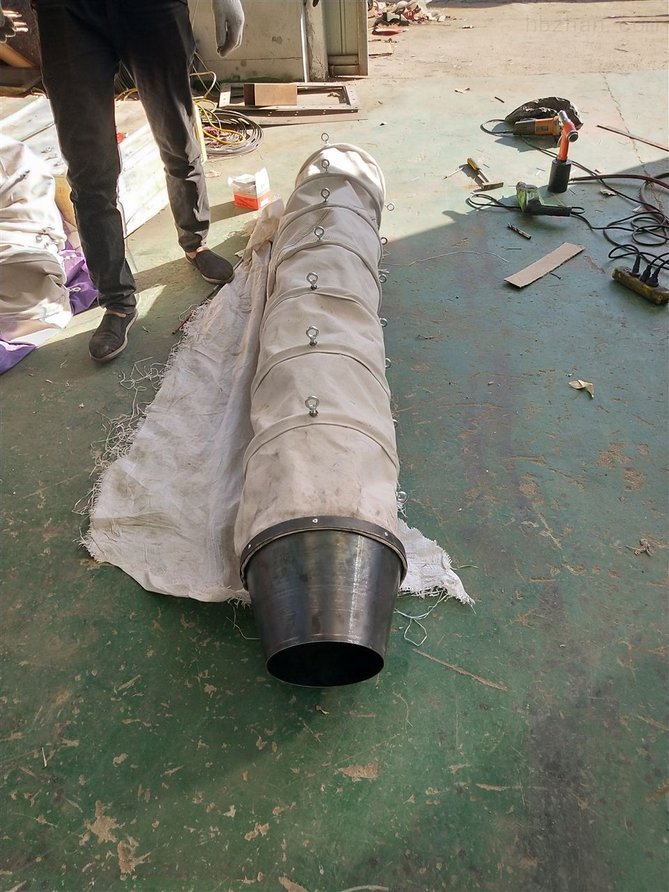 环保卸料口伸缩式水泥防尘布袋