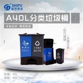 40L双桶垃圾桶武隆县干湿垃圾桶40L供应商