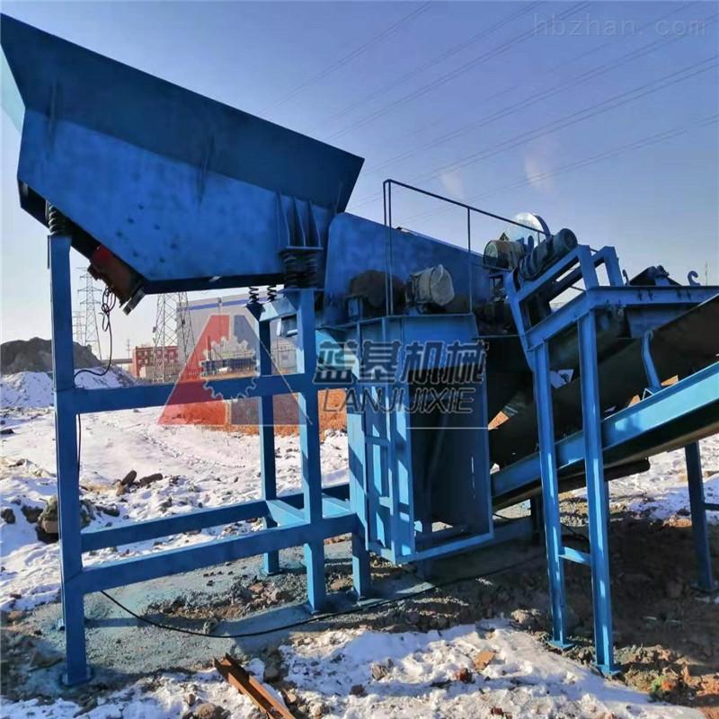 蓝基轮胎式破碎站 垃圾处理生产线设备优势