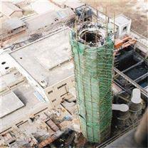 人工拆除水泥烟囱公司  山西太原红砖烟囱拆除