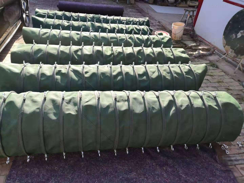 耐高温输送帆布伸缩布筒
