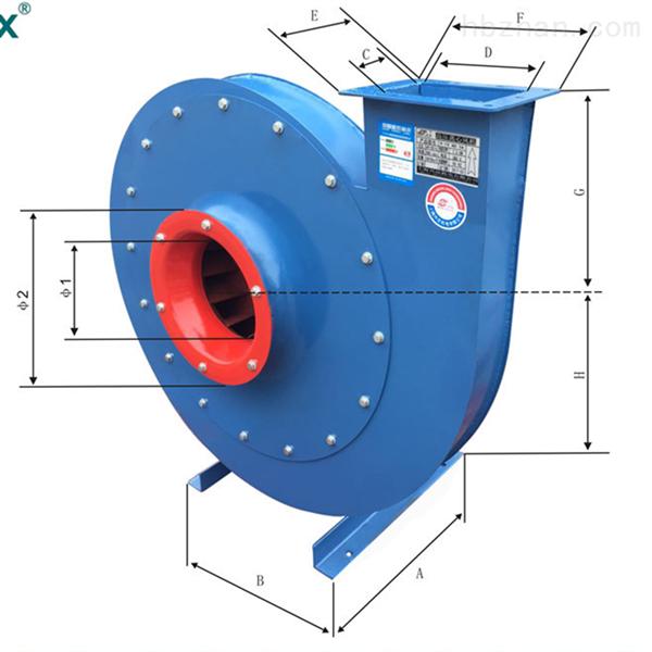 塑料吹膜机用中压风机