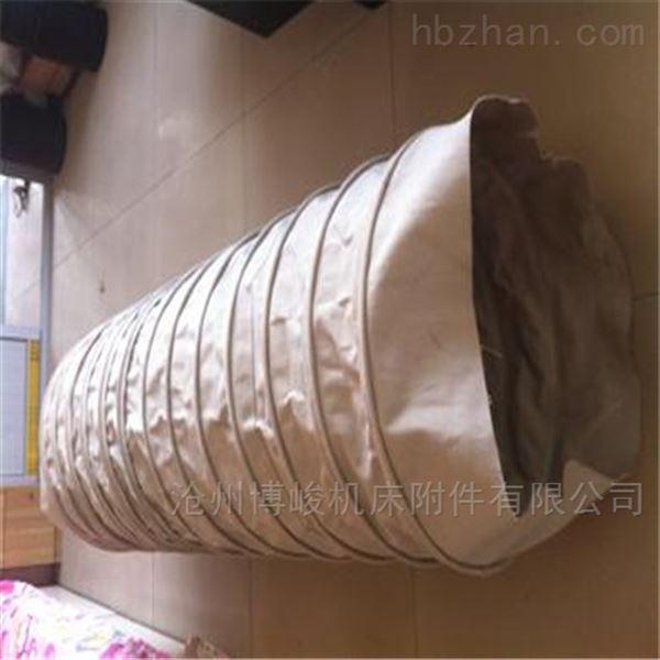 散装水泥颗粒输送通风帆布伸缩布袋