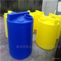 黄冈3吨防腐聚乙烯加药箱带计量泵搅拌机