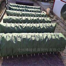 加厚绿色帆布水泥除尘布袋尺寸定做