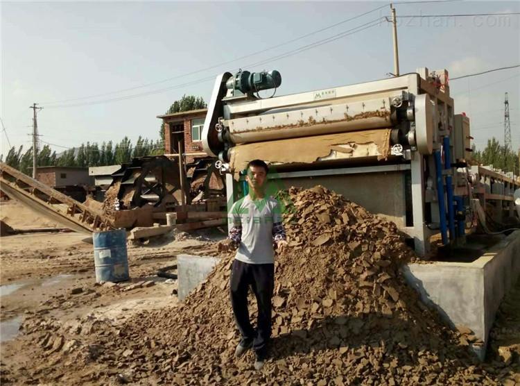 安徽砂石场污泥脱水处理效果