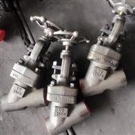 J65Y锻钢承插焊Y型截止阀