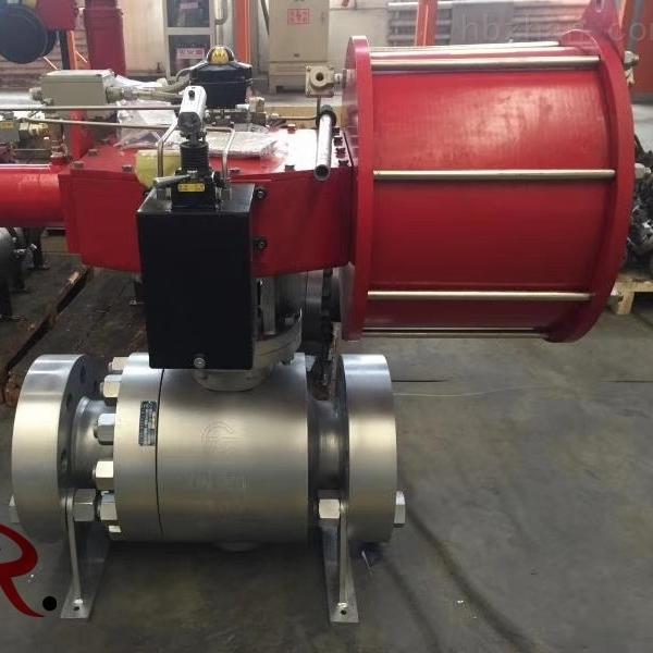 气动锻钢硬密封高压球阀Q647Y-1500LB