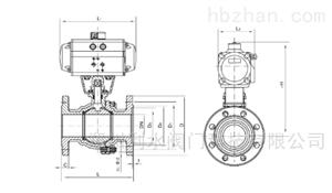 气动碳钢法兰球阀
