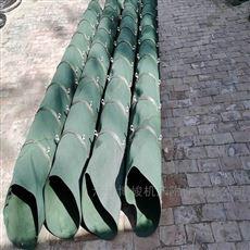码头水泥输送机卸料防尘帆布伸缩布袋定制