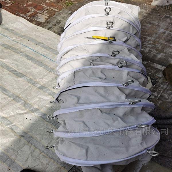 耐腐蚀除尘帆布水泥卸料伸缩布袋厂家