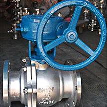 Q341F涡轮不锈钢法兰球阀