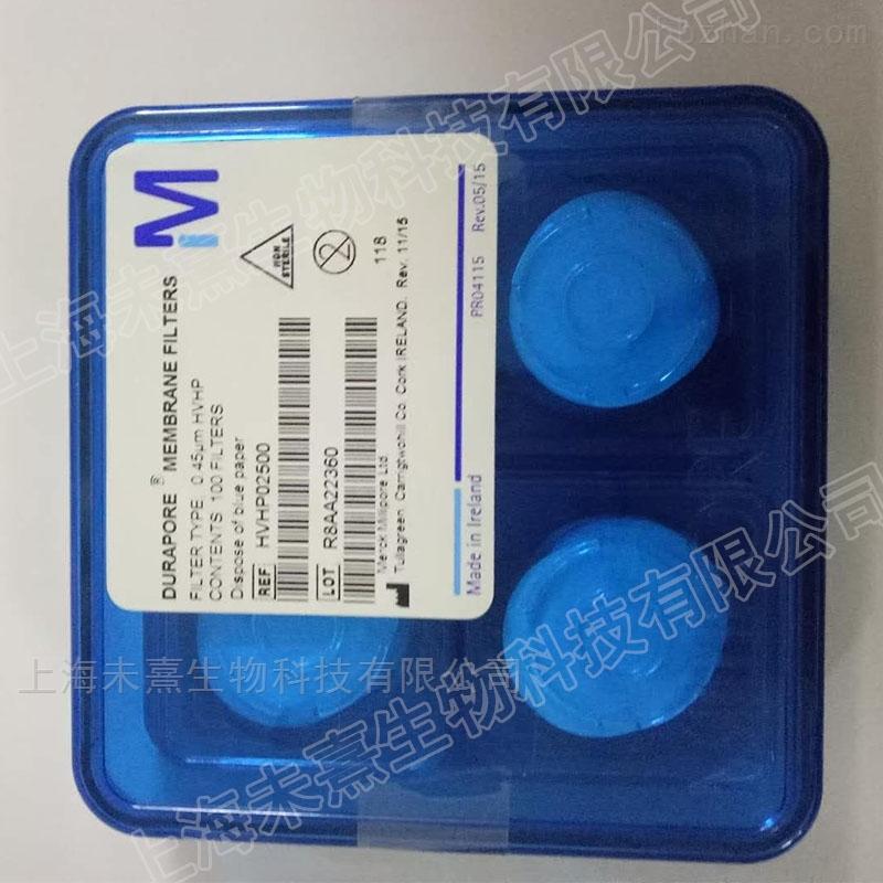 密理博0.45um孔径聚偏二氟乙烯疏水表面滤膜