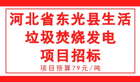 79元/噸,河北東光縣垃圾焚燒發電項目招標