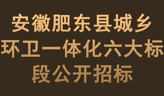 安徽肥東縣城鄉環衛一體化六大標段公開招標