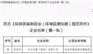 """中兴仪器上榜首批符合 """"万博网页版手机登录装备制造业(环境监测仪器)规范条件""""企业名单"""