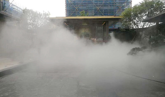 又一个项目竣工了 锦名朗人造雾设备强助攻