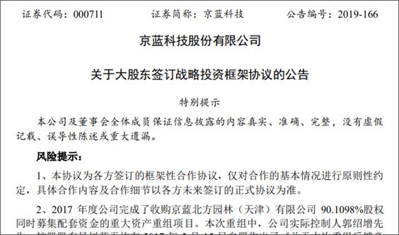 拟引入国资战略投资,京蓝科技实控人将变更