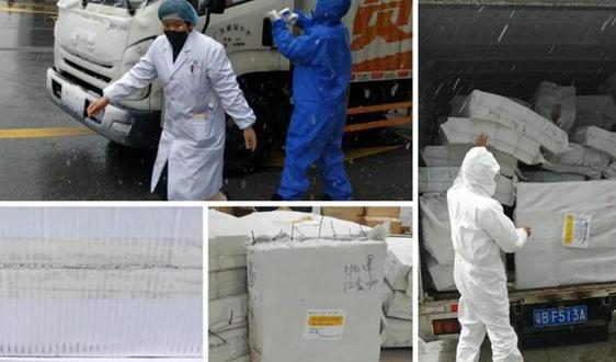 罗克佳华为战疫捐助的第二批防护物资送达