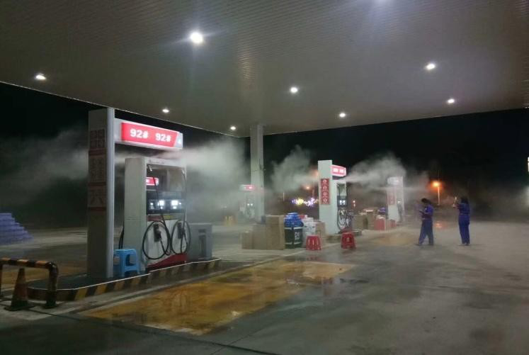 加油站噴霧降溫