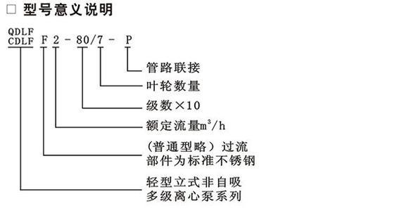 QDL多级泵型号意义