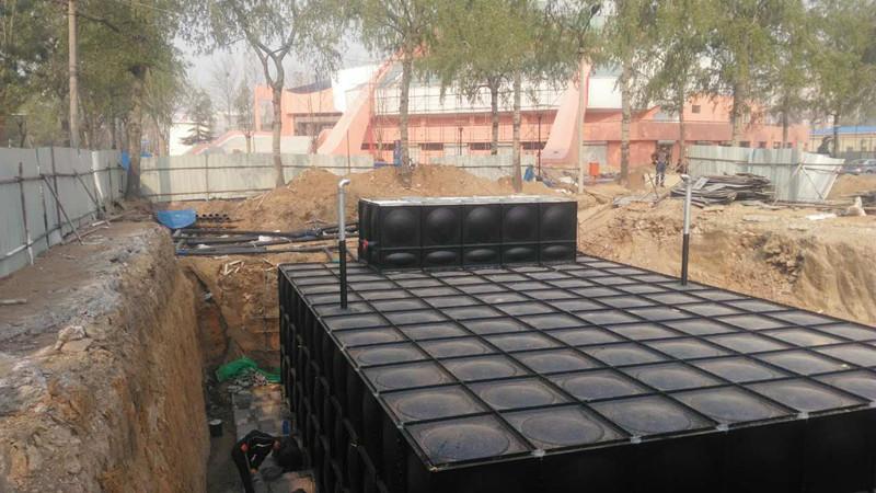 祝贺 榆林地埋式箱泵一体化 神木影剧院360立方项目加班赶制完成