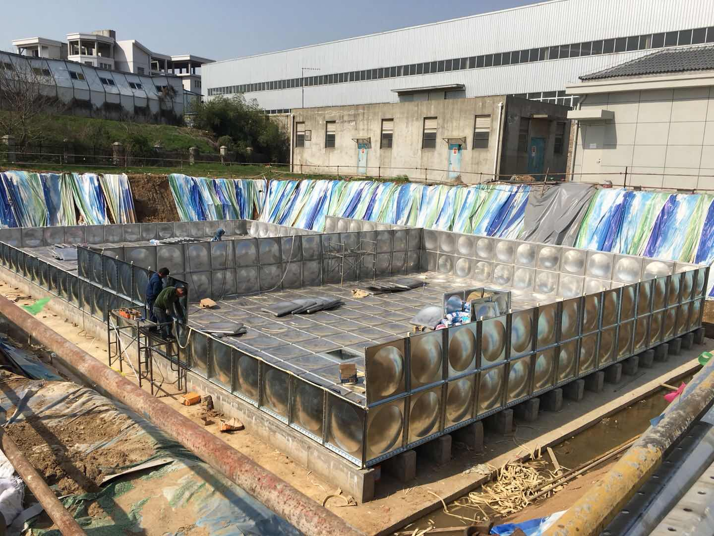 榆林地埋式箱泵一体化 神木影剧院360立方项目加班赶制完成
