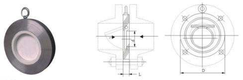 H74TC陶瓷对夹止回阀结构图