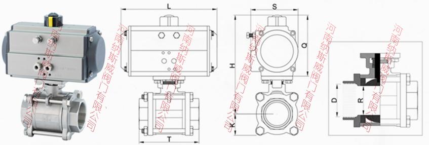 内螺纹气动球阀结构图N1.jpg