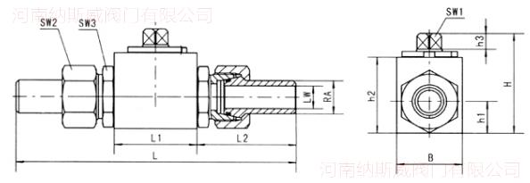 YJZQ高压液压球阀结构图N2