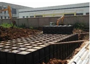 安徽地埋箱泵一体化消防设备已顺利进场安装